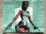 Handmade Tomb Raider latch hook rug by Amanda-Lara1996