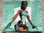 Handmade Tomb Raider latch hook rug by Amanda-Lara1996