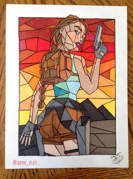 Lara Croft Tomb Raider Classic drawing