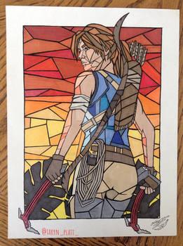 Lara Croft Shadow of the TR drawing