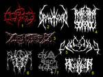 Black- and Death Metal Logos 3 by TommyRangg