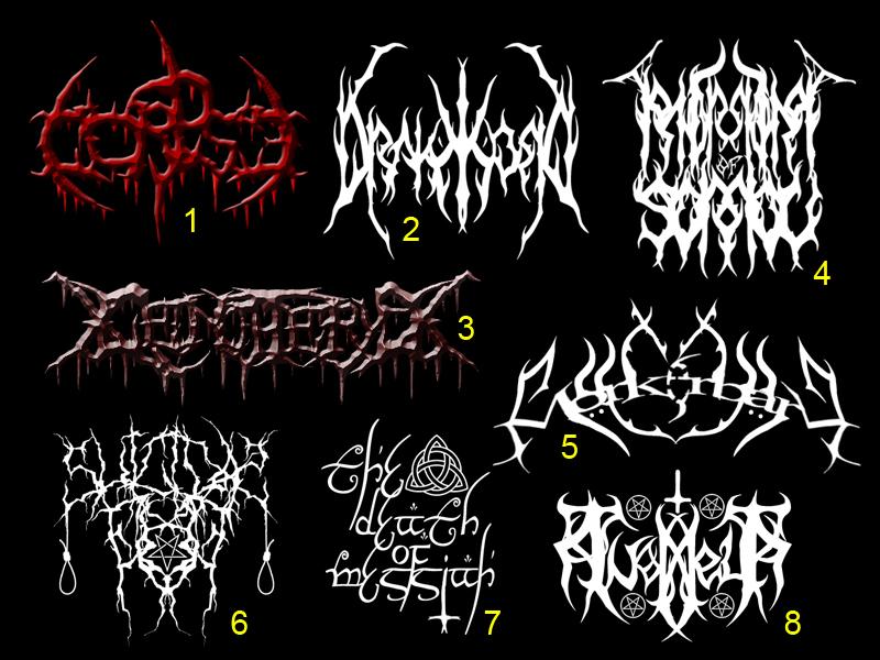 Black- and Death Metal Logos 3 by TommyRangg on DeviantArt