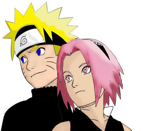 Naruto Colorido ~ Naruto e Sakura Colorido by RodriguezBolado on deviantART