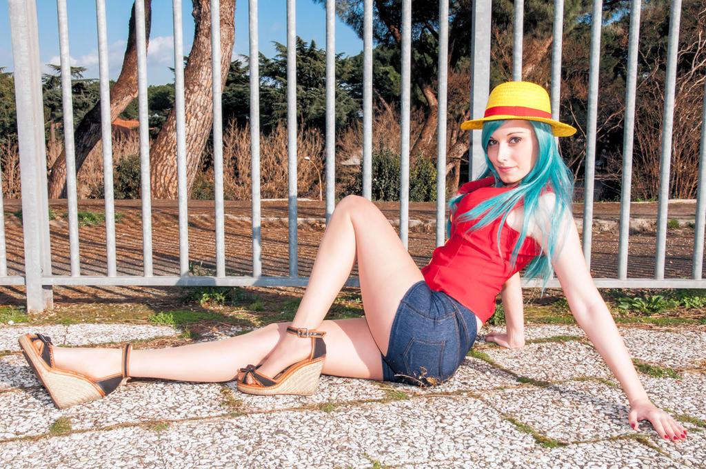 Luffy Bulma by palladineve4