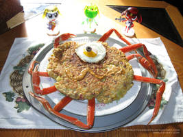 Space Okonomiyaki FX or Meat Lover's Space Omelet