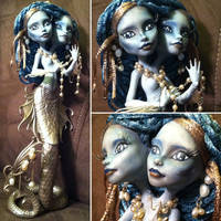 Siamese Sirens: Custom Monster High Doll by TerribleToadQueen
