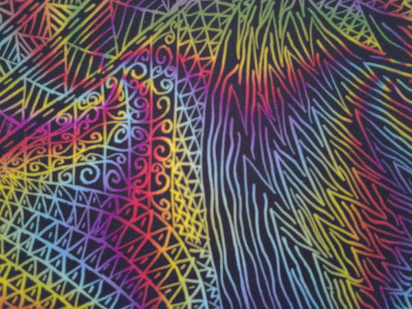 Rainbow zentangle by DragonMaster003