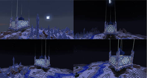 Minecraft Snow Castle - Night View by Arienne-Keith