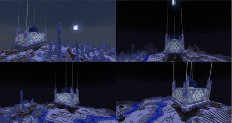 Minecraft Snow Castle - Night View