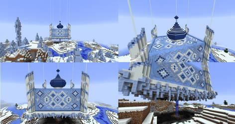Minecraft Snow Castle - Day View