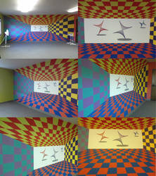 Mural - Tunnel and Tops by Arienne-Keith