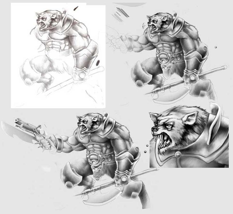Assault werewolf by Lebbeus