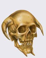Mortis skull by Lebbeus