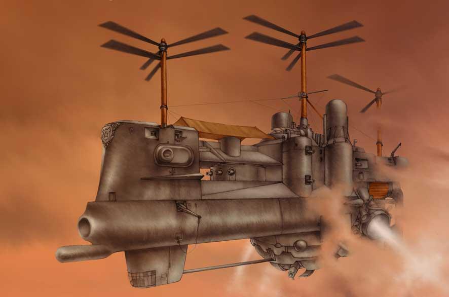 Steampunk concept by Lebbeus