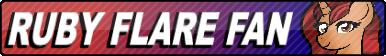 Ruby Flare Fan button by SocksLord