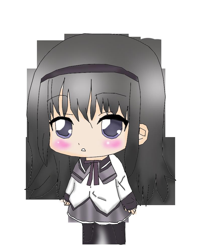 Akemi Homura Chibi by Yoshiko-star on deviantART