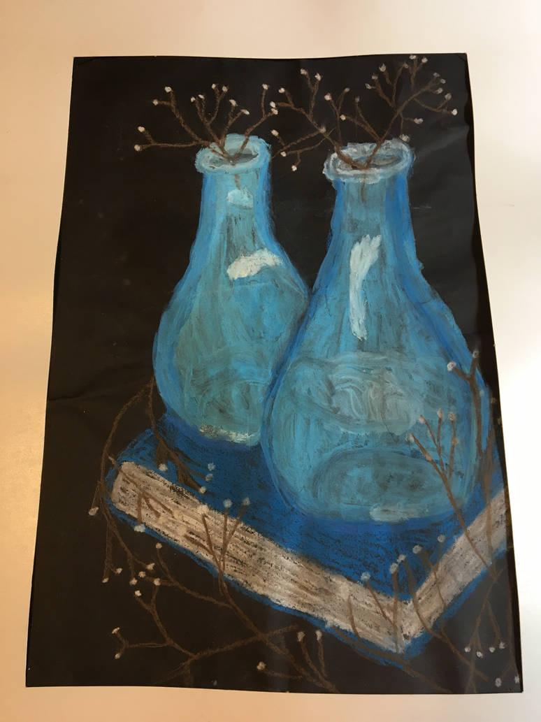 Bottles and Chalk by Zaranii