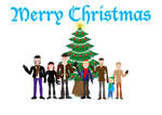 Christmas card 'Family and Tree' by ExMedal