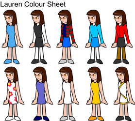 Lauren Character Colout Sheet by ExMedal