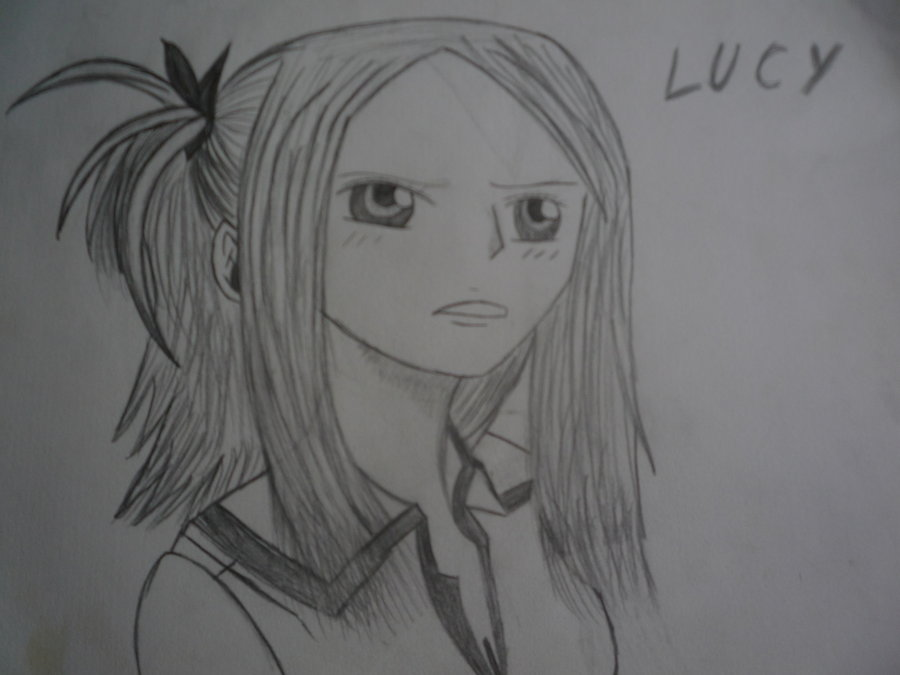 Fairy tail lucy drawing by ainounmei on deviantart - Lucy fairy tail drawing ...