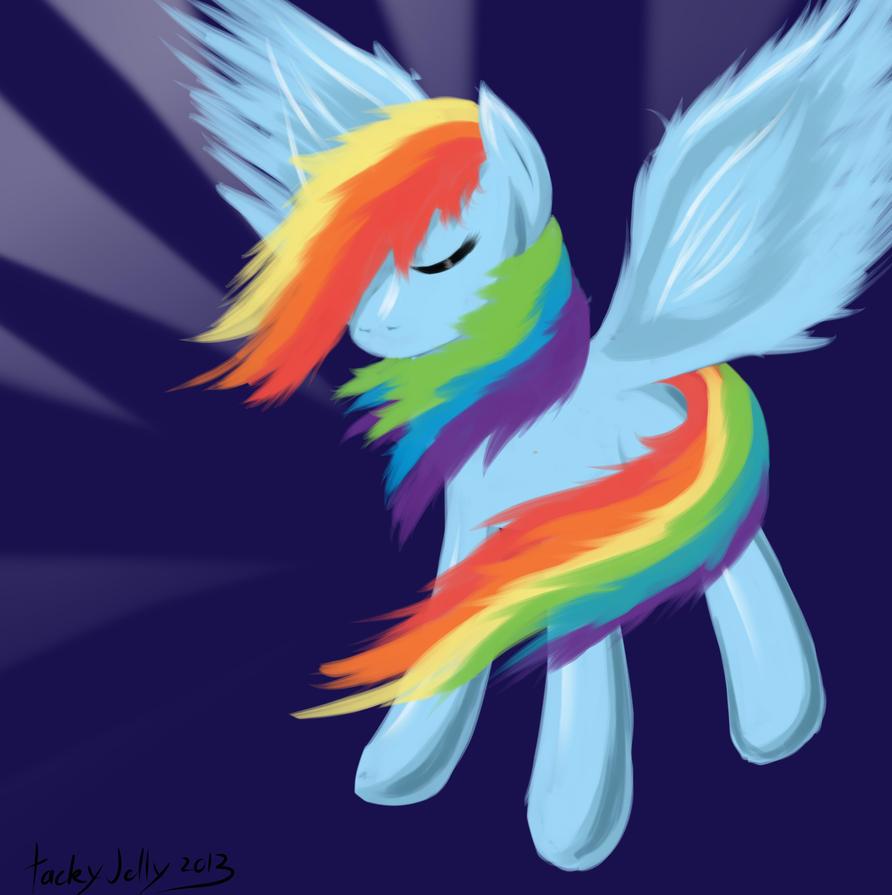 rainbow dash by tilitoom