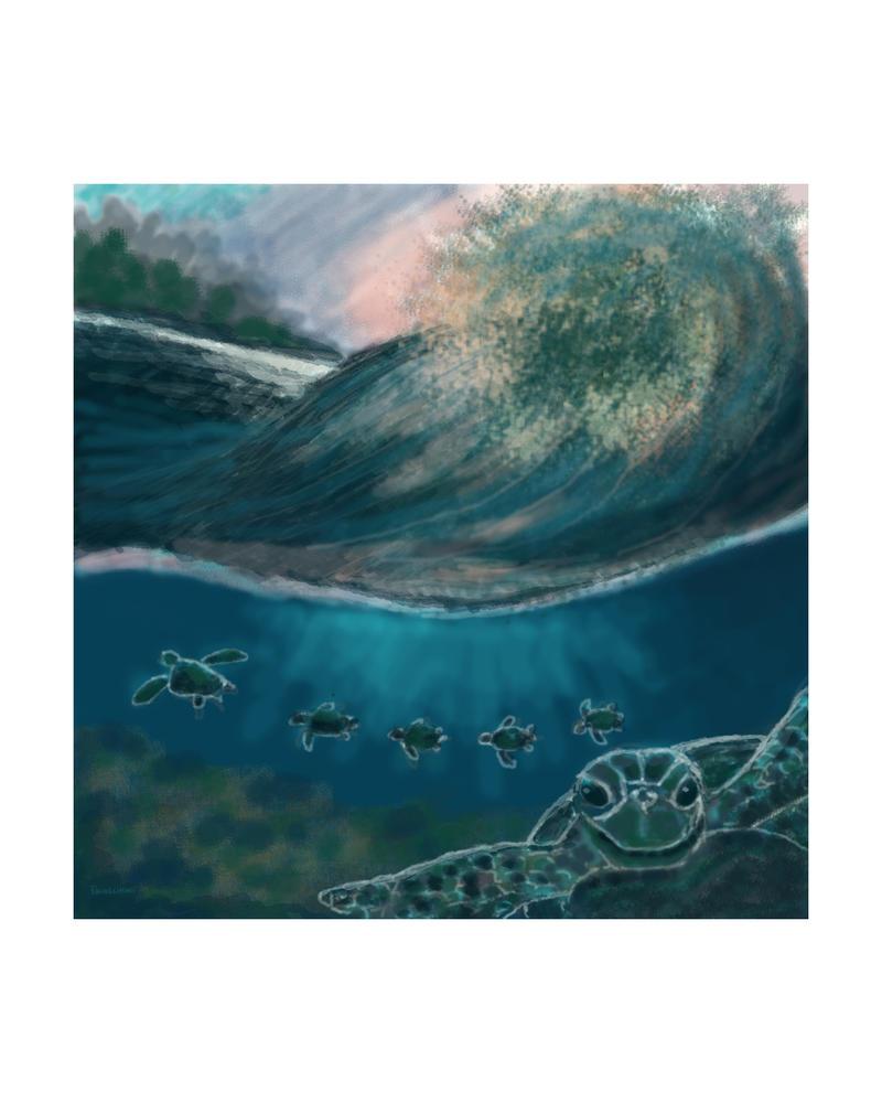 TurtleFamilyRH by SeachelleArt