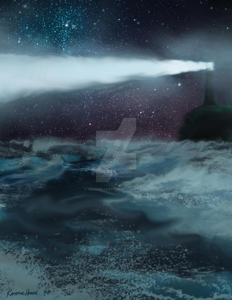 LighthouseGlow by SeachelleArt