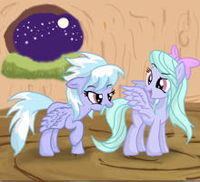 Flitter and Cloudchaser by KbCookie