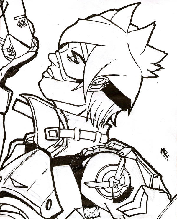 Tracer lineart by Marcus-Pechan