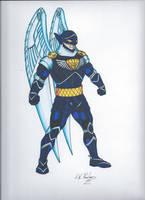 Knight Hawk (color) by AWRowland