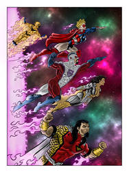 Empyrean Command Cosmic splash page by AWRowland