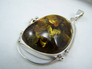 Amber Charm with Flakes v6