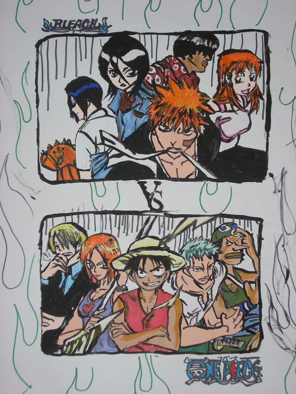 Onepiece VS Bleach by Animal-and-anime-lvr