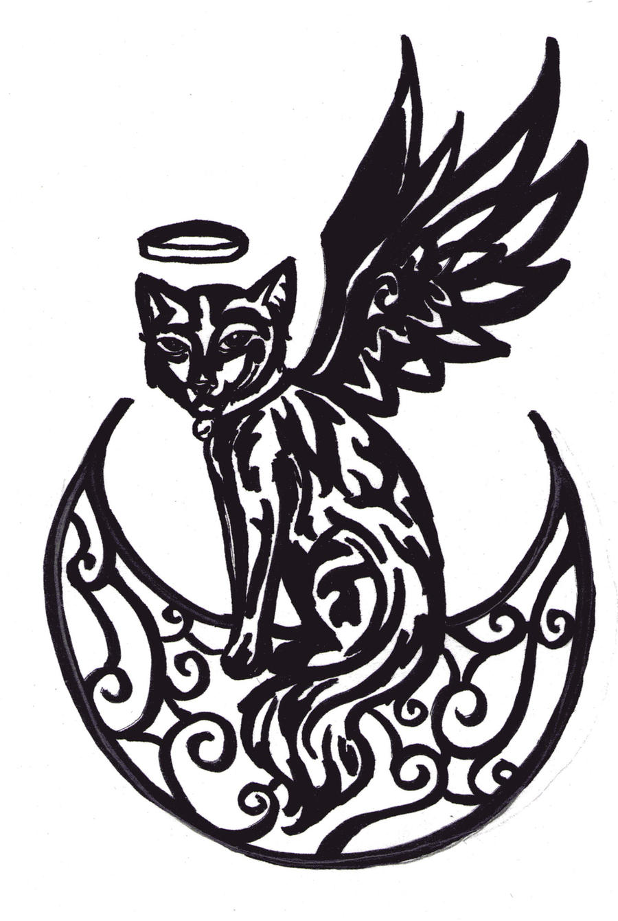 Luna tribal tattoo design 2 by animal and anime lvr on for Tribal tattoo shops near me