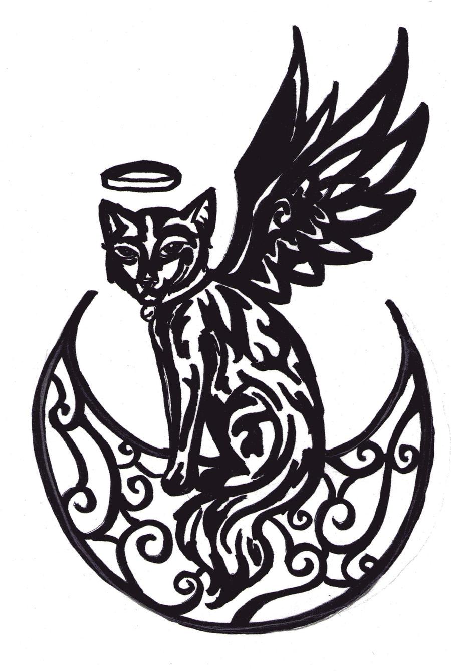 Luna Tribal Tattoo Design 2 By