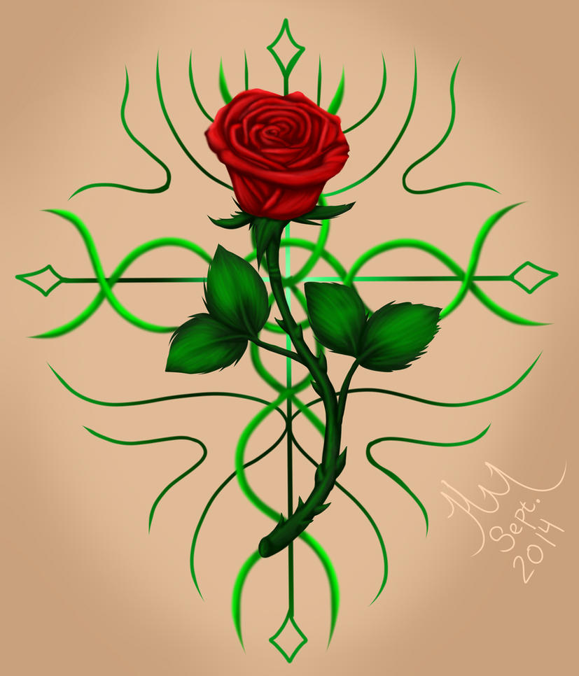 Rose Tattoo Design by Animal-and-anime-lvr