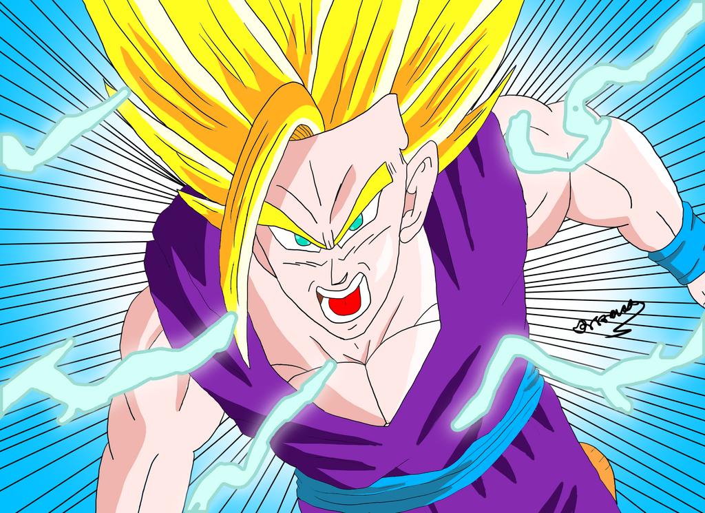Teen Gohan Art Blasting Art 72