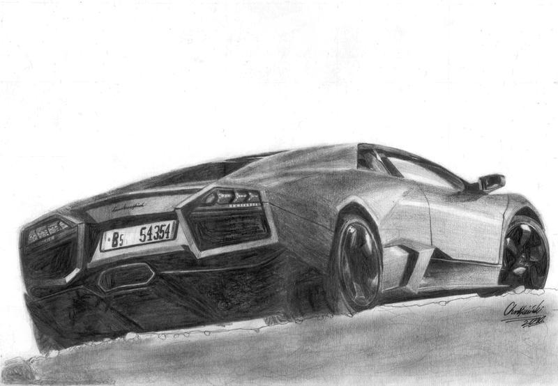 Lamborghini Reventon Pencil Drawing By Xrinagex On Deviantart