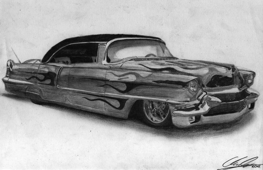 56 Cadillac Firemaker Pencil Drawing By XRINAGEx On DeviantArt