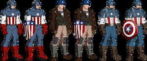 The First Avenger Uniform Line-up (Bourassa Style)