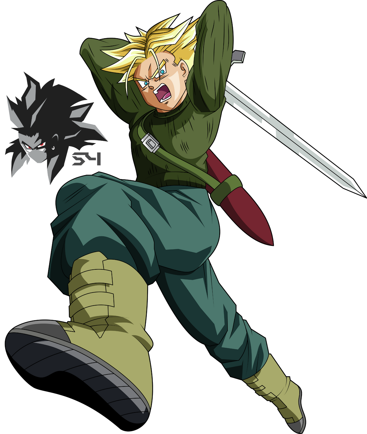 Super Saiyan Future Trunks Dragon Ball Super By MAD-54 On