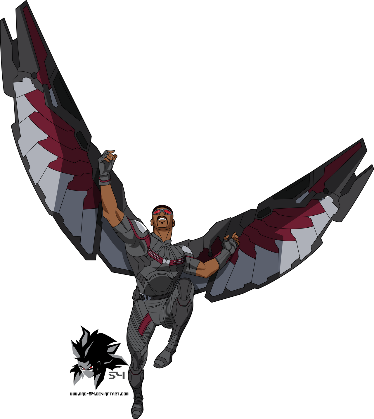 Learn How To Draw Falcon From Captain America Civil War: Sam Wilson AKA Falcon MCU (Bruce Timm) By MAD-54 On DeviantArt