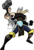 Earth's Mightiest- Thor by MAD-54