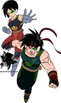 Bardock and Fasha MLL Redesign (Father of Goku) by MAD-54