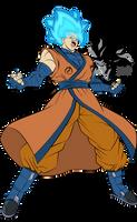 Super Saiyan Blue Goku MLL Influenced  by MAD-54
