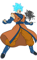 Super Saiyan Blue Goku MLL Influenced  by MAD-54