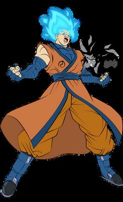 Super Saiyan Blue Goku MLL Influenced