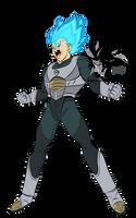 Super Saiyan Blue Vegeta MLL Influenced  by MAD-54