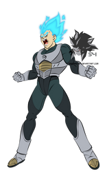 Super Saiyan Blue Vegeta MLL Influenced  by MAD-54