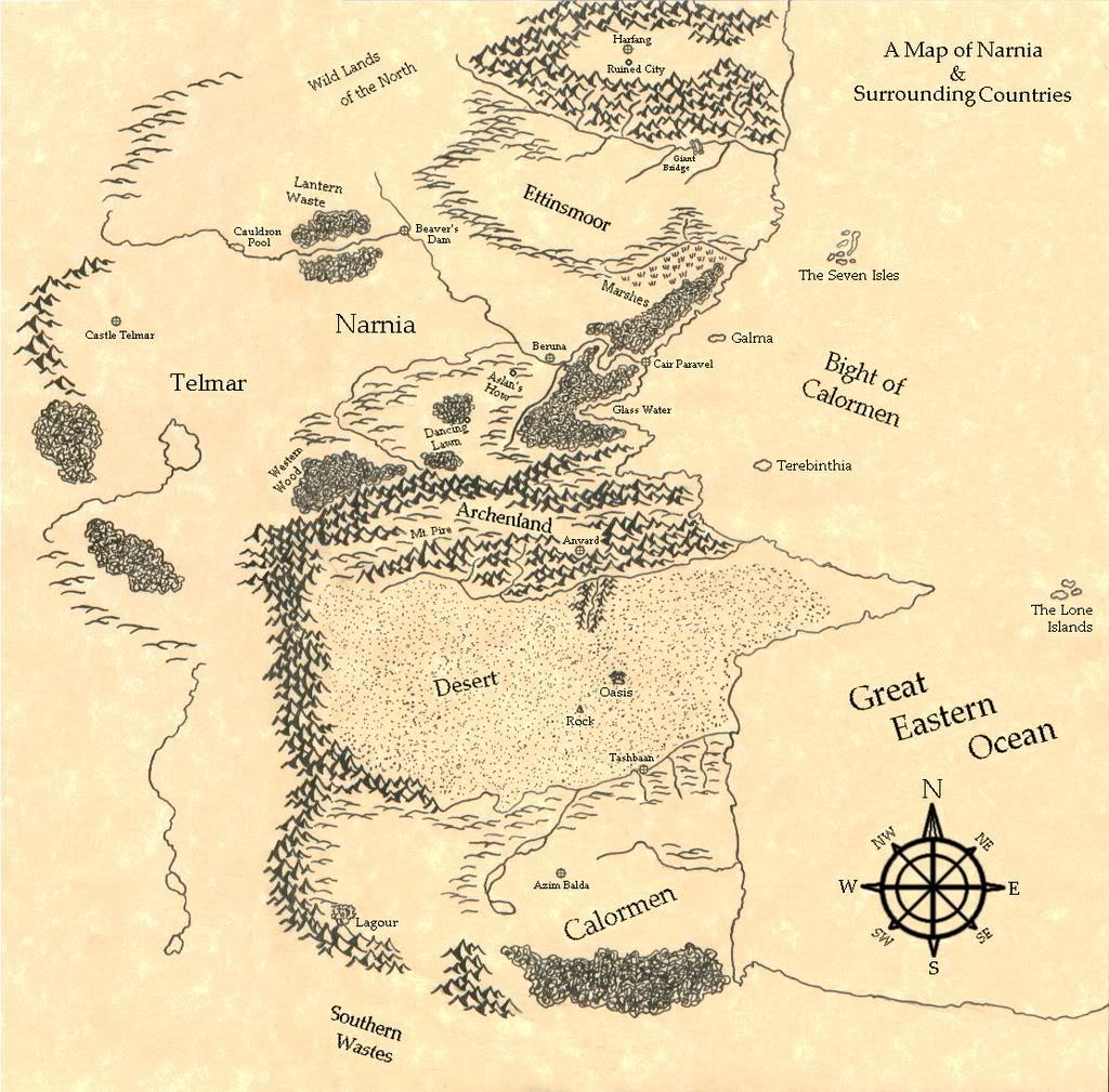 Drawn Map Of Narnia By Swordoftheword On Deviantart